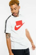 Nike NSW Sportswear Tee Shirt - Mens Size S - AV9958-100 NWT White Red