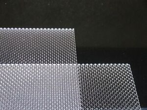 3mm A4 TPA Polycarbonate clear Prismatic Lighting Diffuser Sheet 297 mm x 210 mm