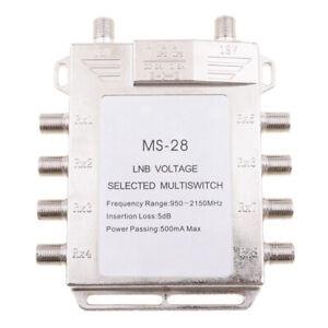 2x8 DiSEqC Satellite Stand-Alone MultiSwitch FTA TV LNB Voltage Switch