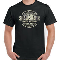 Shawshank Redemption T-Shirt Mens Retro Movie 90s Film Stephen King Prison Top