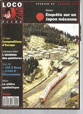 LOCO REVUE N°556 RESEAU : JAPON MECONNU / ALCHIMIE DES PEINTURES / PLATRE SYNTHE