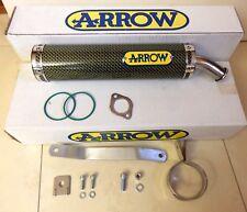 APRILIA RS 125 Kevlar échappement Silencieux phrase Arrow 2-Trou Race exhaust i1043