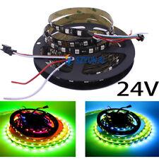 5M 24V  WS2811 Addressable 60leds pixel strip light Digital RGB  Full color IP20