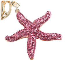 Sparkling Starfish Keychain Keyring Crystal Rhinestones Purse Pendant E4I1 N4X7