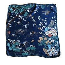 Beautiful Vintage LIBERTY Japanese Art Print:Birds & Flowers Silk Scarf