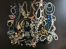 Lot Vintage & other Costume Estate Jewelry Making Craft Beads Necklace Earrings