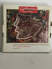 "Christmas Tree Crystal 7.5"" Plate -Celebrations #312271  with Original Box"