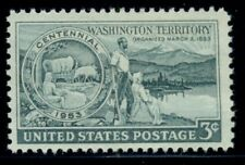 #1019, 3¢ Washington Territory Stamps Lot Of 400, Mint - Spice Up Your Mailings!