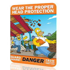 Metal Sign The Simpsons Wear the proper head protection Decor Wall Art Humor