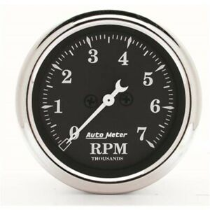 AutoMeter 1797 Old Tyme Black Air-Core In-Dash Tachometer, 2-1/16