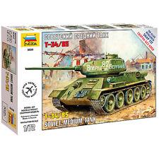 Zvezda 5039 soviet medium tank T-34/85 SECONDA GUERRA MONDIALE 1:72 kit modello di accoppiamento a scatto
