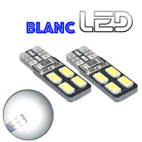 2 Ampoules W5W T10 Blanc 8 Led anti erreur habitacle Porte Coffre Plafonnier