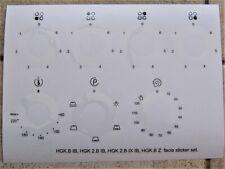 Indesit HGK.B IB, HGK 2.B IB, HGK 2.B IX IB, HGK.B Z compatible fascia stickers.