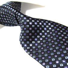 "Extra Long Polyester Woven Tie,Microfibre Black Men's XL Necktie PL246 63"""
