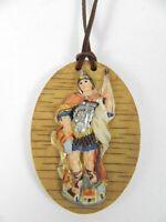 Heiliger Florian Amulett mit Lederband,Schutzpatron der Feuerwehr,Kirche,NEU