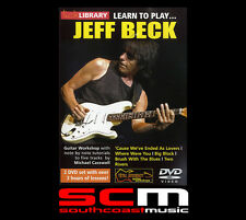 GUITAR MASTER CLASS LEARN TO PLAY FIVE JEFF BECK SONGS LICK LIBRARY 2 DVD SET