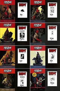 Mike Mignola SIGNED AUTOGRAPHED Hellboy Graphic Novel SET Books #1-8 SC NEW