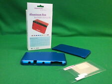 Aluminium Hard Case Cover Skin Shell Box Nintendo 3DS LL XL Console BLUE NEW