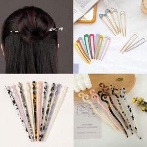 Women Vintage Chinese Style Hair Chopsticks Stick Acetate Hairpin Chignon Pin*