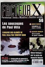 FACTEUR X n°56; Les soucoupes de Paul Villa/ Armes Russes/ Aleister Crowley