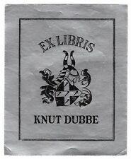 HENNING BACKMANN und LARS-RUNE OLHANS: heraldisches Exlibris für Knut Dubbe