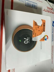 Google Nest Learning Smart Thermostat 3rd Generation Copper T3021US (COPPER)