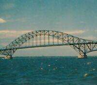 Long Island Postcard Vtg Robert Moses Causeway Bridge Fire Island NY GSB Photo
