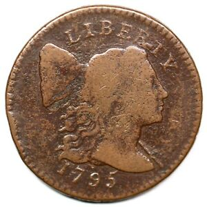 1795 S-73 R-5- Lettered Edge Liberty Cap Large Cent Coin 1c