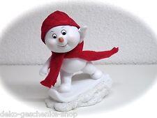poly enfant de neige blanc Planche à 12 cm bonhomme avec Bonnet en tissu +