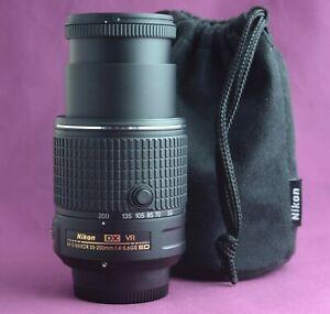 Nikon AF-S DX 55-200mm F4-5.6G ED VR MK II Latest Version Lens SUPERB 2167E
