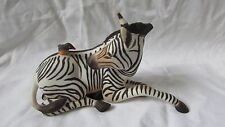 Franklin mint porcelain Zebra and bird Happy landing perfect freepost