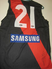 ESSENDON DYSON HEPPELL PLUS HIRD HAND SIGNED JERSEY UNFRAMED + PHOTO PROOF +COA