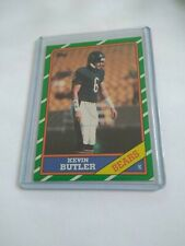 1986 TOPPS KEVIN BUTLER ROOKIE  FOOTBALL CARD, FREE SHIPPING!