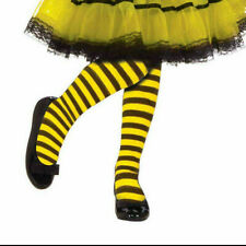 Child Bumble Bee Tights 3 sizes yellow black stripe costume dress up size medium