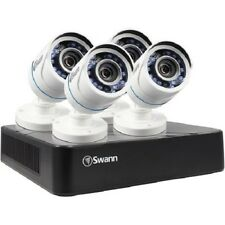 Swann SWDVK-HDHOMK84-US 8-Channel 720A 500GB DVR/Four 720P White Bullet Cameras