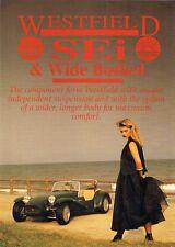 Westfield SEi & Wide Bodied Kit Form Mid 1990s UK Market Leaflet Sales Brochure