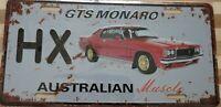 HOLDEN HX GTS MONARO Metal Signs Australian Muscle Cars MAN CAVE SHED BAR
