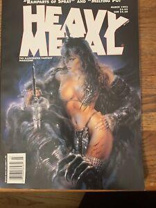 HEAVY METAL MAGAZINE March 1993 LUIS ROYO COVER ART! BARON STOREY! SIMON BISLEY