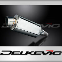 Delkevic Aftermarket Slip On compatible with Kawasaki KLR650 A /& E DS70 9 Carbon Fiber Oval Muffler Exhaust 87-19