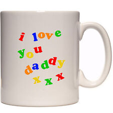 I love you Daddy personalised mug with photo father's day Birthday gift present