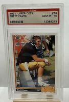BRETT FAVRE 1991 Upper Deck RC ROOKIE #13 PSA 10 GEM MINT RARE HOF INVEST