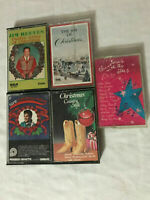 LOT OF 5 CHRISTMAS HOLIDAY CASSETTES JIM REEVES ELVIS PRESLEY COUNTRY XMAS