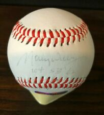 Maury Wills Signed & Inscribed Ball - LA Dodgers