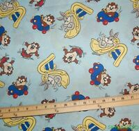 1.9Yds Rare, HTF, OOP Warner Bros Looney Tunes Baby Taz, Baby Bugs Fabric