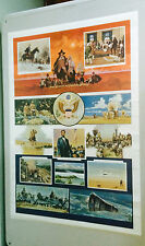 Great Moments in American History Collage vintage US pin-up Space Exploration