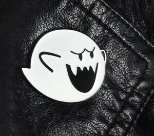 "Super Mario Bros Boo Ghost Enamel Pin Badge Brooch 1"" US Seller"
