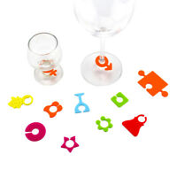 24x Silicone Party Wine Glass Bottle Drink Cup Marker Tags Cup Identify Label sg