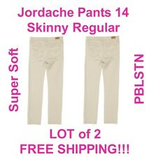 Girl Jordache Pants 14 Skinny Regular SuperSoft Pebblestone School Uniform Lot 2