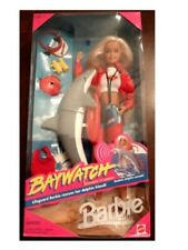 Baywatch Lifeguard Barbie Doll and Dolphin NIB