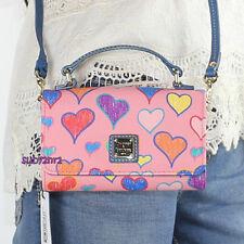 NWT Dooney & Bourke Multi Heart Small Mimi Crossbody Bag WHART0151 Pink Hearts